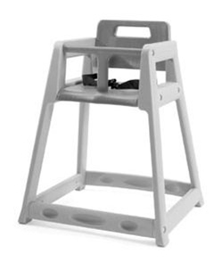 plastic baby high chair. plastic high chair - unassembled (caster and tray optional), no. 022-850 baby