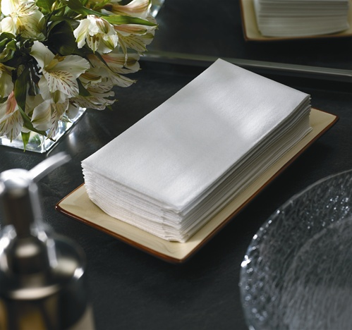 White Linen Like Guest Towel No 10 856499