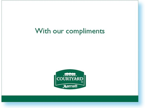 Courtyard Quot With Our Compliments Quot Card 1221605