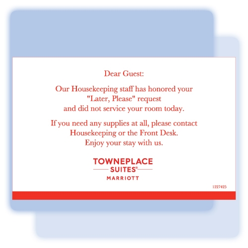 TownePlace Suites No Service Flat Card, #1227425