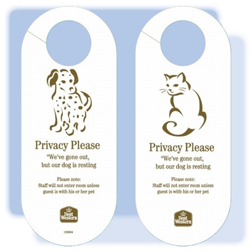 Best Western Pet In Room Door Hanging Sign No 1228804
