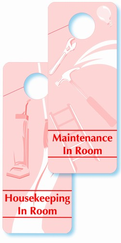 housekeeping in room sign housekeeping sign maintenance sign maintenance in room sign