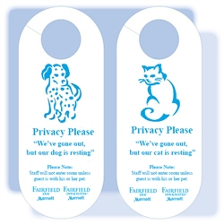 Fairfield Inn Pet In Room Door Hanging Sign 1228820c