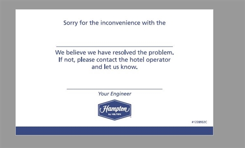 hampton inn sorry for the inconvenience engineering flat
