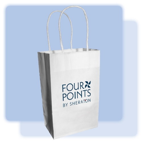 Four Points By Sheraton Small White Gift Bag