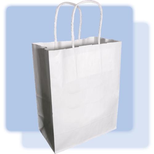 Plain White Medium Paper Gift Bag 122930