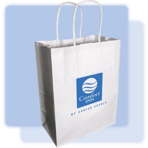 Comfort Inn Medium Paper Gift Bag White Kraft Paper Bag