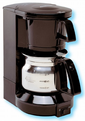 Sunbeam Coffee Maker Auto Shut Off : Sunbeam 4-cup coffee maker with stainless steel carafe, #162-3289 - case of 4 pcs.