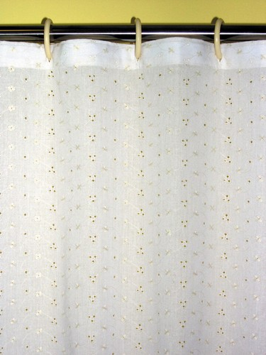 White Eyelet Shower Curtain White Battenburg Sh