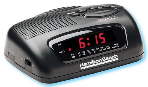 hamilton beach am fm clock radio with large led display 609 hcr329. Black Bedroom Furniture Sets. Home Design Ideas