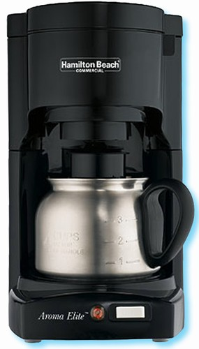 Aroma Electric Coffee Maker : Hamilton Beach Aroma Elite 4-cup coffee maker, white with stainless steel carafe, #609-HDC700S ...