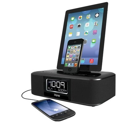 the alarm clock radio for your ipad iphone or ipod. Black Bedroom Furniture Sets. Home Design Ideas