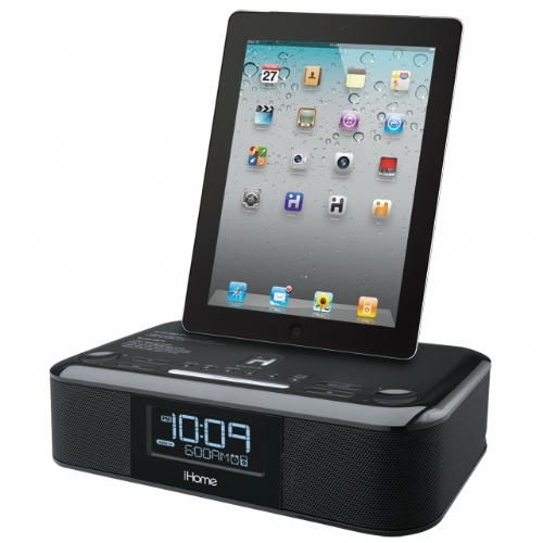 ihome fm clock radio for the ipad iphone and ipod no 771 hip95b. Black Bedroom Furniture Sets. Home Design Ideas