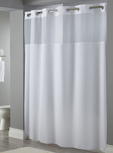 Mystery Hookless Shower Curtain White