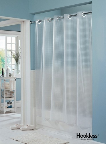 transparent cloth shower curtain