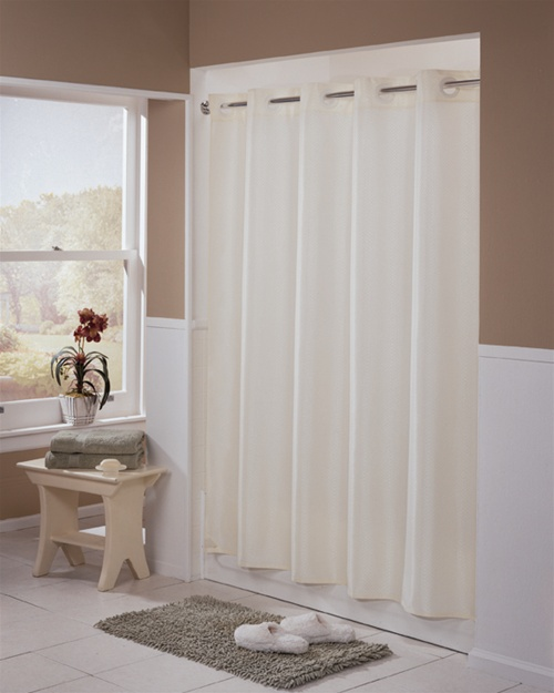 mandated Hookless® shower curtain, Beige Englewood 71\