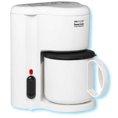 Oster Coffee Maker Thermal : Jerdon 4-Cup thermal coffee maker, white. No. 780-CM21W