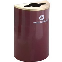 "Glaro RecyclePro ""Profile"" half round recycling receptacles"