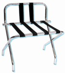 Gaychrome luggage rack with backrest, chrome with black straps, No. 022-1055B-C-BL - case of 6 pcs.