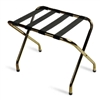 Luggage rack, brass-plated with black straps, #022-155BR-BL - case of 6 pcs.