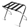 Luggage rack, chrome with black straps, #022-155C-BL - case of 6 pcs.