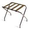 Luggage rack, walnut finish with brown straps, #022-155WA-BN - case of 6 pcs.