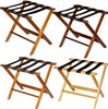 Wood luggage rack, with black straps, #022-TLR-100- case of 3 pcs.