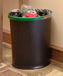 Recycle insert for 13-quart oval wastebasket, No. 09-7601