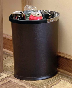BLACK recycle insert for 13-quart oval wastebasket, # 09-7601R