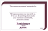 Residence Inn Pride/Welcome flat card, #1220919