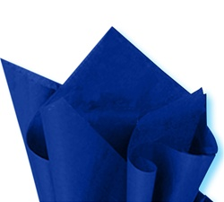 Deluxe blue tissue paper for wrapping, #122101B