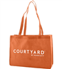 Courtyard Orange Fabric-Soft Uni Tote, No. 1239005ORG