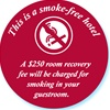 Smoke-free room door lock decal, No. 132850