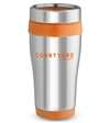 16 oz No-Slip-Grip stainless tumbler with Courtyard logo.