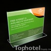 "Acrylic sign stand for new Marriott internet card, T-type 6"" wide x 4"" high, No. 657-220-0604/05"