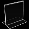"Acrylic sign stand, T-type 6"" wide x 6"" high. # 657-220-0606"
