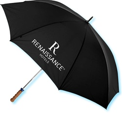 Renaissance guest umbrella with natural wood golf handle, No.662-A501C/41
