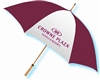 Crowne Plaza guest umbrella with natural wood golf handle, #662-A501C-42
