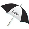Radisson guest umbrella with natural wood golf handle, #662-A501C/44