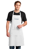 "Restaurant-standard 65/35 poly/cotton twill bib apron. Durable 7.5-ounce, sliding neck adjustment, three patch pockets. 30"" w x 31"". Impressively embroidered with the Fairfield Inn or Fairfield Inn & Suites logo."