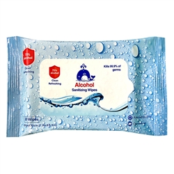 75% Alcohol Wipes - 10 count
