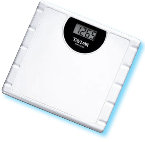 Taylor 174 Lithium Electronic Bathroom Scale 772 7000