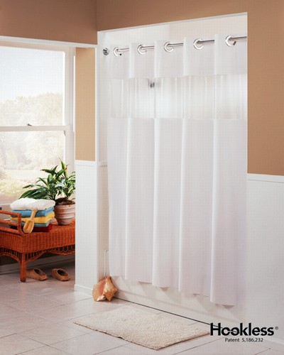 HooklessR Shower CurtainHookless Curtainhotel CurtainArcs And Angles