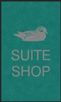 "Digiprint nylon floor mat 3' x 5' with ""Suite Shop"" logo"