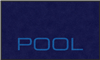 "Digiprint nylon floor mat 3' x 5' with ""Pool"" logo"