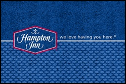 "Hampton Inn or Hampton Inn & Suites ""We Love Having You Here"" double door entry floor mat 4' x 6', No. 778-01/46/32_Welcome"
