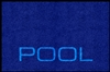 "Digiprint nylon floor mat 4' x 6' with ""Pool"" logo. No. 778-01/46/Pool"