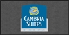 100% Nylon front desk area floor mat, 4' x 8' with 4-color Cambria Suites logo