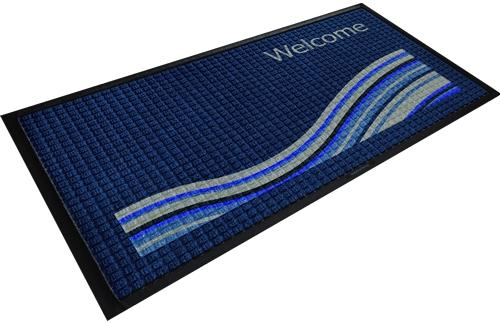 Fairfield Inn WaterHog Outdoor Entry Mat 3u0027 X 5u0027   Wave Design, No