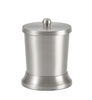 Pewter Veil cotton container of durable brushed-stainless steel, #780-BS-1001